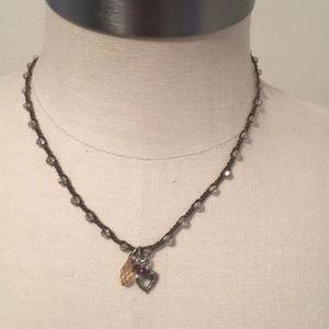 Brighton Crochet Crystal Charm Necklace